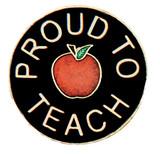Proud to Teach Lapel Pin