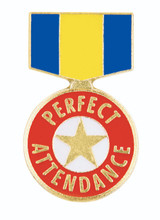 Perfect Attendance Ribbon Lapel Pin