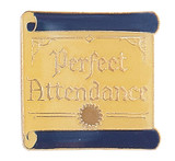 Perfect Attendance on scroll Lapel Pin