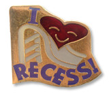 I (heart) Recess! Lapel Pin