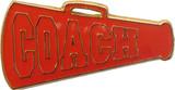 Cheer COACH - Red Megaphone Lapel Pin (CHR-292)