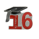 Class of 16' Red Lapel Pin