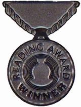 Reading Award Winner (silver) Lapel Pin