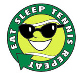 Eat, Sleep, Tennis, Repeat Lapel Pin
