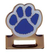 Paw Print - Badge Holder (blue/white) Lapel Pin