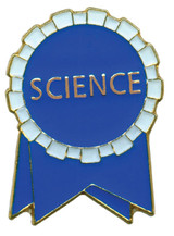 Science Ribbon (blue/white) Lapel Pin