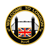 2012 London Skyline Lapel Pin - Black