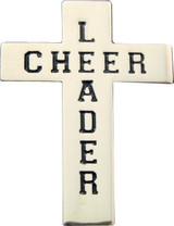 Cheerleader Cross (black) Lapel Pin (CHR-207BL)
