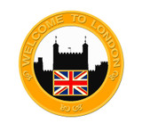 2012 London Skyline Lapel Pin - Yellow