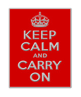 2012 London Themed Keep Calm Red Lapel Pin