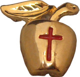 Golden Apple - Cross Lapel Pin