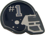 Helmet with #1 (Black) Lapel Pin