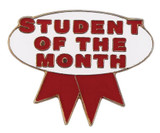 Student of the Month (red/white) Lapel Pin
