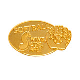 SOFTBALL (gold) Lapel Pin