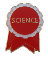 Science Ribbon (red/white) Lapel Pin