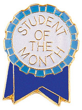Student of the Month Ribbon Lapel Pin