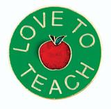Love To Teach Lapel Pin