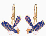 Blue & White Eagle Earrings