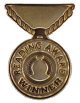 Reading Award Winner (gold) Lapel Pin