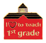 I (heart) to teach 1st grade Lapel Pin