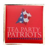 Tea Party Patriots Square Lapel Pin