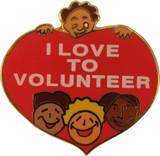 I Love to Volunteer Lapel Pin