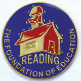 Reading the Foundation of Education Lapel Pin
