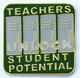 Teachers Unlock Student Potential Lapel Pin