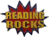 Reading Rocks in Red Lapel Pin
