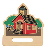 School House Badge Holder Lapel Pin
