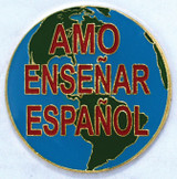 Amo Ensenar Espanol Lapel Pin
