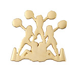 Cheerleader Pyramid (gold) Lapel Pin (CHR-233)
