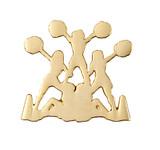 Cheerleader Pyramid (gold) Lapel Pin (CHR-233)