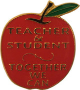 Teacher & Student Together We Can Lapel Pin