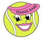 Tennis Babe Lapel Pin