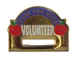 Volunteer Badge Holder Lapel Pin