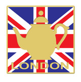 2012 London Tea Pot Lapel Pin