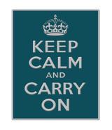 2012 London Themed Keep Calm Blue Lapel Pin