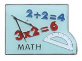Math Lapel Pin (black)