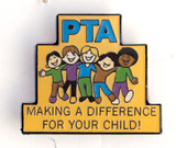 PTA Making a Difference For Your Child Lapel Pin