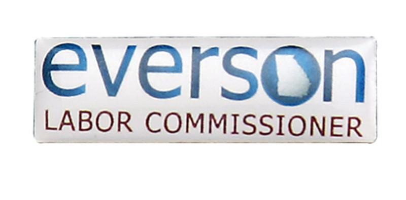 Everson Labor Commissioner Lapel Pin