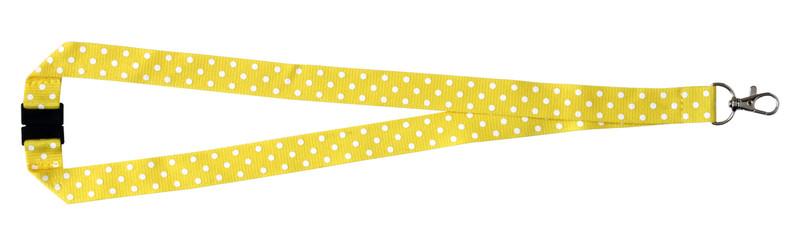 Polka Dot Print Lanyard - Yellow