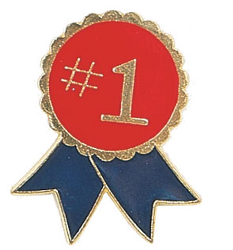 #1 Ribbon Lapel Pin