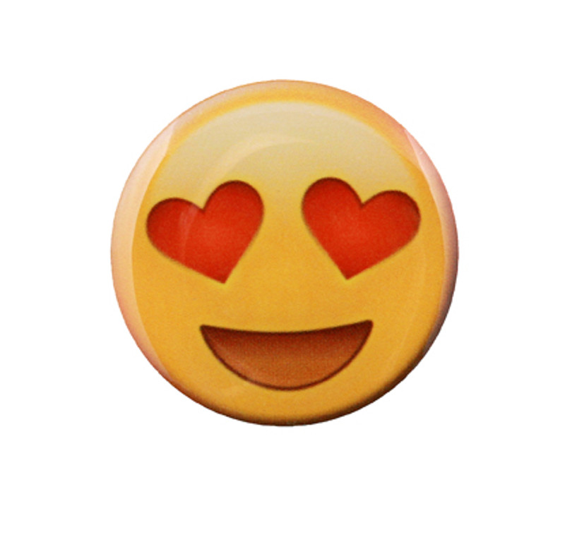 Smile with Heart Eyes Emoji Lapel Pin