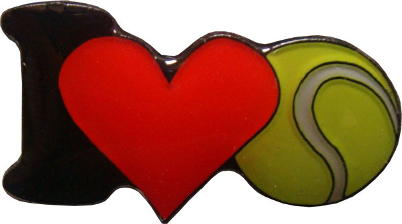 I (heart) Tennis Lapel Pin