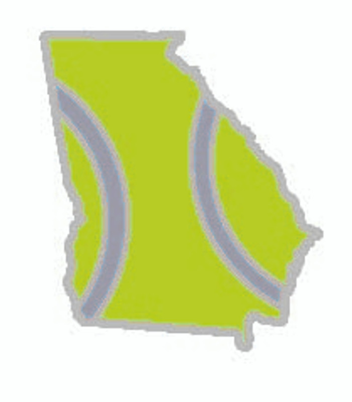 State of Georgia Tennis Pin Lapel Pin
