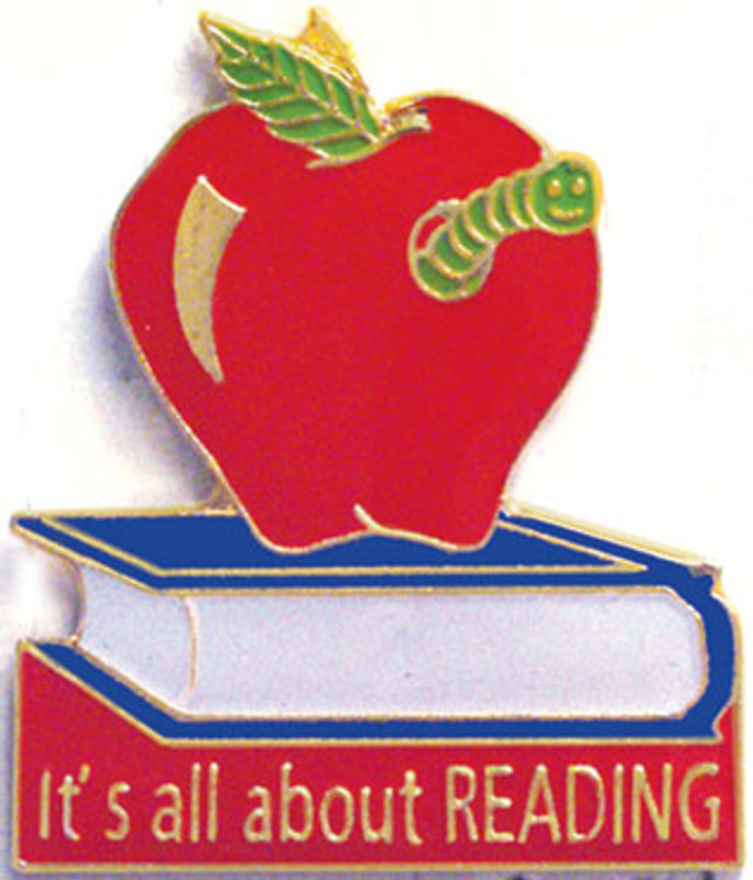 It's all about Reading Lapel Pin
