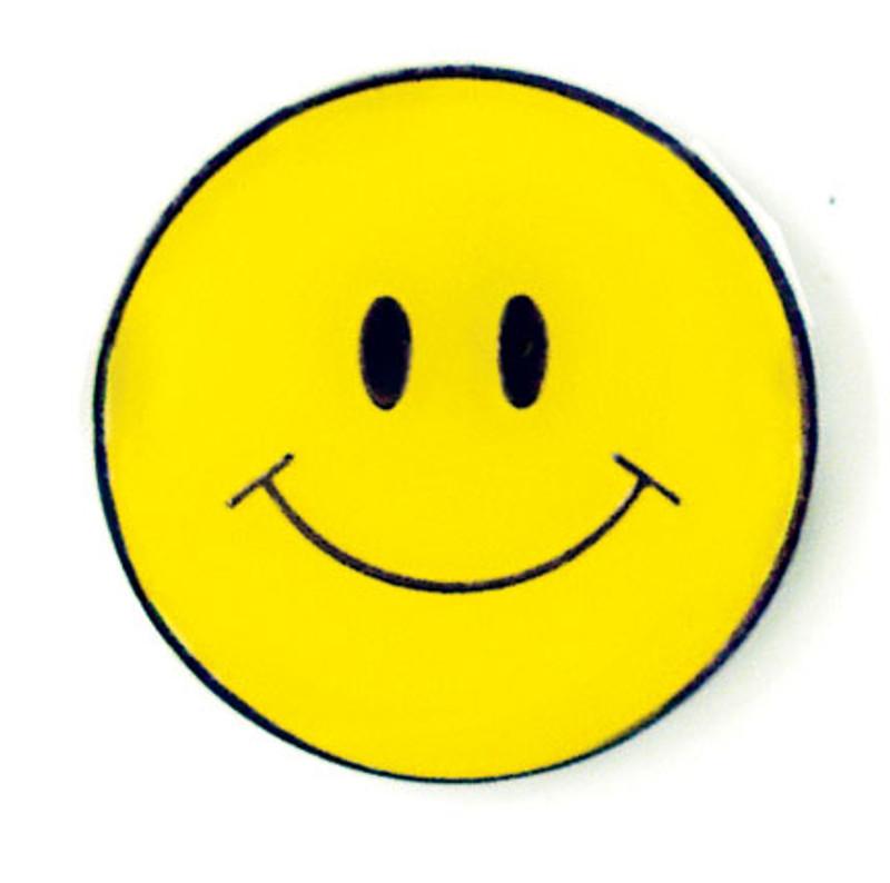 Happy Face Lapel Pin