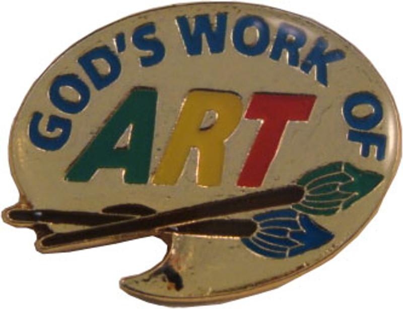 God's Work of ART Lapel Pin
