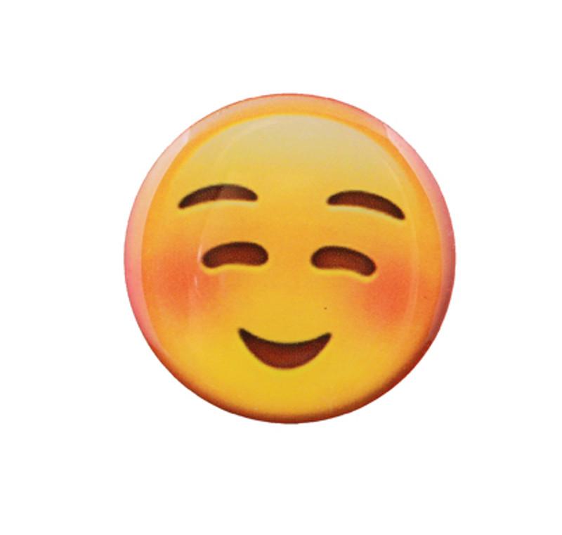 Smile Blushing Emoji Lapel Pin